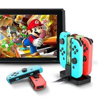 4in1 Gamepad Charging Dock Stand Station Charger for Nintend Switch Joy-Con & Pro Controller