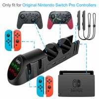 Charger Station for Nintendo Switch Joy-Cons Pro Controllers with USB 2.0 Plug and USB 2.0 Ports
