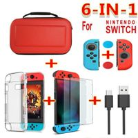6in1 Portable Protective Hard Shell Storage Bag  for Nintendo Switch Console Accessories  Controller Protector