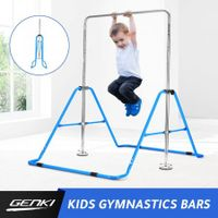 Genki Horizontal Gymnastics Bar for Kids Height Adjustable Training Kip Bar Blue