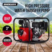 8HP High Pressure Water Transfer Pump Fire Fighting Irrigation 4 Stroke 60000L/H