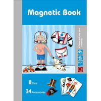 Boys Magnetic Puzzles Book Series Educational Toys Gift for Kids Age3+