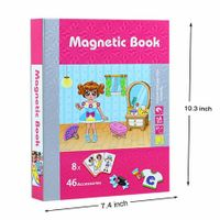 Gils dressup Magnetic Puzzles Book Series Educational Toys Gift for Kids Age3+
