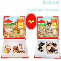 Holiday Festival Girls Magnetic Puzzles Book Series Educational Toys Gift for Kids Age3+