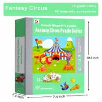 Fantasy Circus Magnetic Puzzles Book Series Educational Toys Gift for Kids Age3+