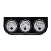 Triple Gauge Kit Electric Voltmeter Water Temperature Oil Pressure for Gasoline Modified Car Models