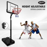Genki Adjustable 2.1-2.6m Portable Basketball Hoop Stand System Backboard Rim