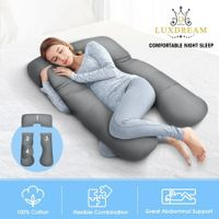 Luxdream U Shape Full-body Pregnancy Sleeping Body Support Maternity Pillow Grey