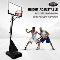 Genki Adjustable 2.3-3.05m Portable Basketball Hoop Stand System Backboard Rim