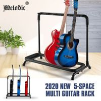 Melodic Multiple 5 Holder Guitar Stand Foldable Guitar Rack Black