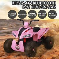 12V Kids Electric Ride On Car ATV Battery Toy w/MP3 Bluetooth Radio