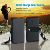 Carry Solar Power Charger Emergency Foldable Camping Gear 9W