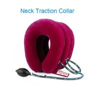 Neck Traction Neck Cervical Traction Collar Device for Neck and Back Pain Relief Inflatable Spine Alignment Pillow