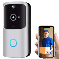 Video Doorbell Camera, UMei Wireless WiFi Doorbell Camera Smart IP Video Door Phone Intercom System Doorbell Home Security, Real-Time Video for iOS&Android Phone, Night Light,166