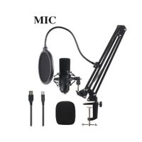 USB Condenser Microphone for Computer, Great for Gaming, Podcast, LiveStreaming, YouTube Recording, Karaoke on Computer, Plug & Play, with Adjustable Metal Arm Stand, Ideal for Gift