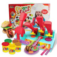 Burger Mold Set Combination Color Clay Mud Kit for 4 years+