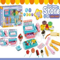 Ice Cream Store Mini Cash Register Color Clay Dough For 4 years + old