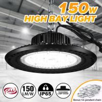 150W UFO LED High Bay Light 22500LM 5000K Aluminium Thickened Lamp Cover