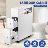 Wheeled Bathroom Cabinet Storage Drawer Organiser Toilet Cabby Tissue Box Holder