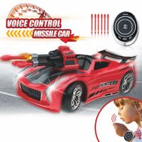 Smart Voice Remote Control Cars Cool Light Effects (Red)