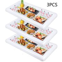 Inflatable Serving Tray Bar Buffet Cooler with drain plug Party Supplies X 3PCS