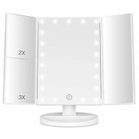 Makeup Mirror with Lights 21 Led Light Up Mirror with 2X/3X Magnification Vanity Mirror(White)