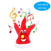 Christmas Music Swing  Electric Party Hat Color Red With LED