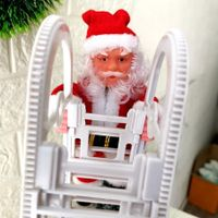 Santa Claus Climbing Ladder Electric Doll Christmas Tree Hanging Ornament