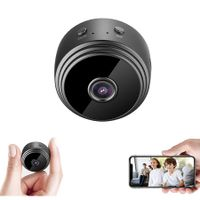 Mini HD 1080P Wireless Hidden Camera,Home WiFi Remote Security Cameras,Night Vision Spy Camera(Black)