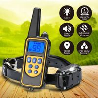 Dog Training Collar Rechargeable Dog Vibration Beep Collar with 800M Remote Control