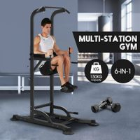 6 In 1 Home Gym Fitness Pull UP Tower