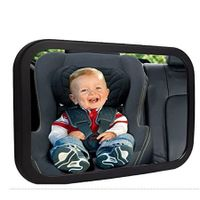 Baby Car Mirror, Safety Car Seat Mirror for Rear Facing Infant with Wide Crystal Clear View, Shatterproof, Fully Assembled, Crash Tested and Certified
