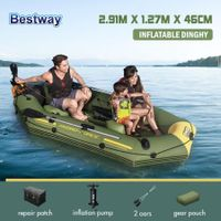 Bestway Marine-Grade Inflatable Boat Set 2.91mx1.27mx46cm Hydro-Force