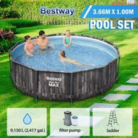 Bestway 3.66mx1.00m Steel Pro Max Above Ground Pool Kit with Filter Pump