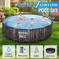 Bestway 4.27mx1.07m Steel Pro Max Above Ground Pool Kit with Filter Pump & Cover