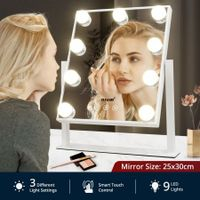 Maxkon Hollywood Style Makeup Mirror Lighted Vanity Mirror with 9 LED Lights