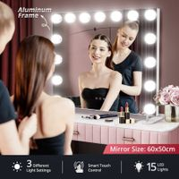 Maxkon 15 LED aluminium Hollywood Style Makeup Mirror Lighted Vanity Mirror