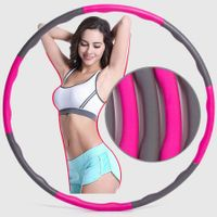 Fitness Exercise Weighted Hoola Hoop, Lose Weight by Fun Way to Workout, Fat Burning Healthy Model Sports Life, Detachable and Size Adjustable
