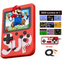 Game Box 500 in 1 Portable Mini Handheld Video Game Console + Gamepad Doubles Players