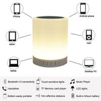 LED night light wireless bluetooth emotion Speaker light touch small desk lamp