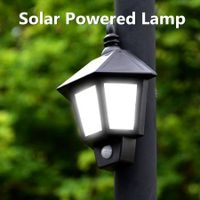 Solar PIR Infrared Induction Garden Courtyard Superbright White LED Wall Lamp