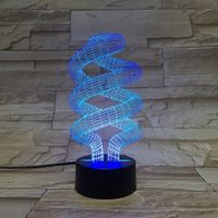 3D Spiral Night Light 7 Color Change LED  Lamp Xmas Toy Gift