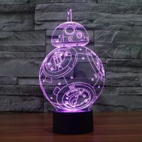 Star Wars BB-8 Touch Dimming 3D LED Night Light 7Colorful Decoration Lamp