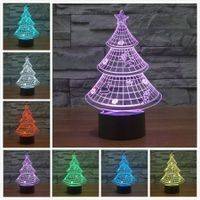Christmas Tree 3D  Lamp Decorative Lighting new Year's gift For Kids
