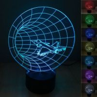 Novelty time machine 3D Night Light 7 Color Change LED Table Lamp Xmas Toy Gift