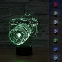 3D Digital Camera Stereo LED Lights Colorful