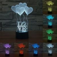 Four LOVE3D colorful acrylic visual perspective of Mood Lamp