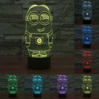 Small yellow people cartoon 3D LED night lights