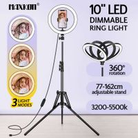 10 Inch LED Ring Light Selfie Ring Light with Tripod Stand for Live Video Photography