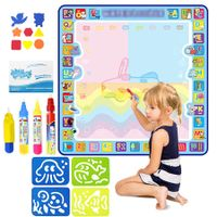 100cm x 100cm Water Doodle Mat No Mess Aqua Magic Doodle Mat with Accessories